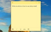 How to use Sticky Notes in Windows 10