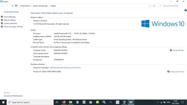check pc specs Windows 10