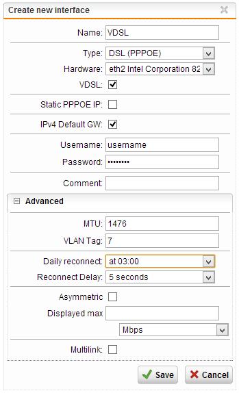 Using a VDSL line with Sophos UTM (5/6)