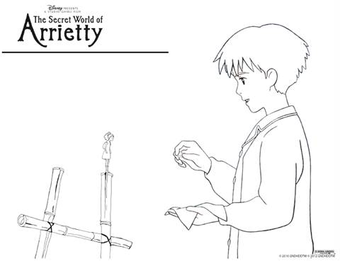 The Secret World Of Arrietty Free Coloring Pages Networking Witches