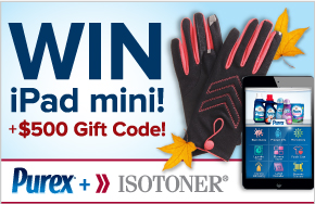 isotoner and Purex Sweepstakes
