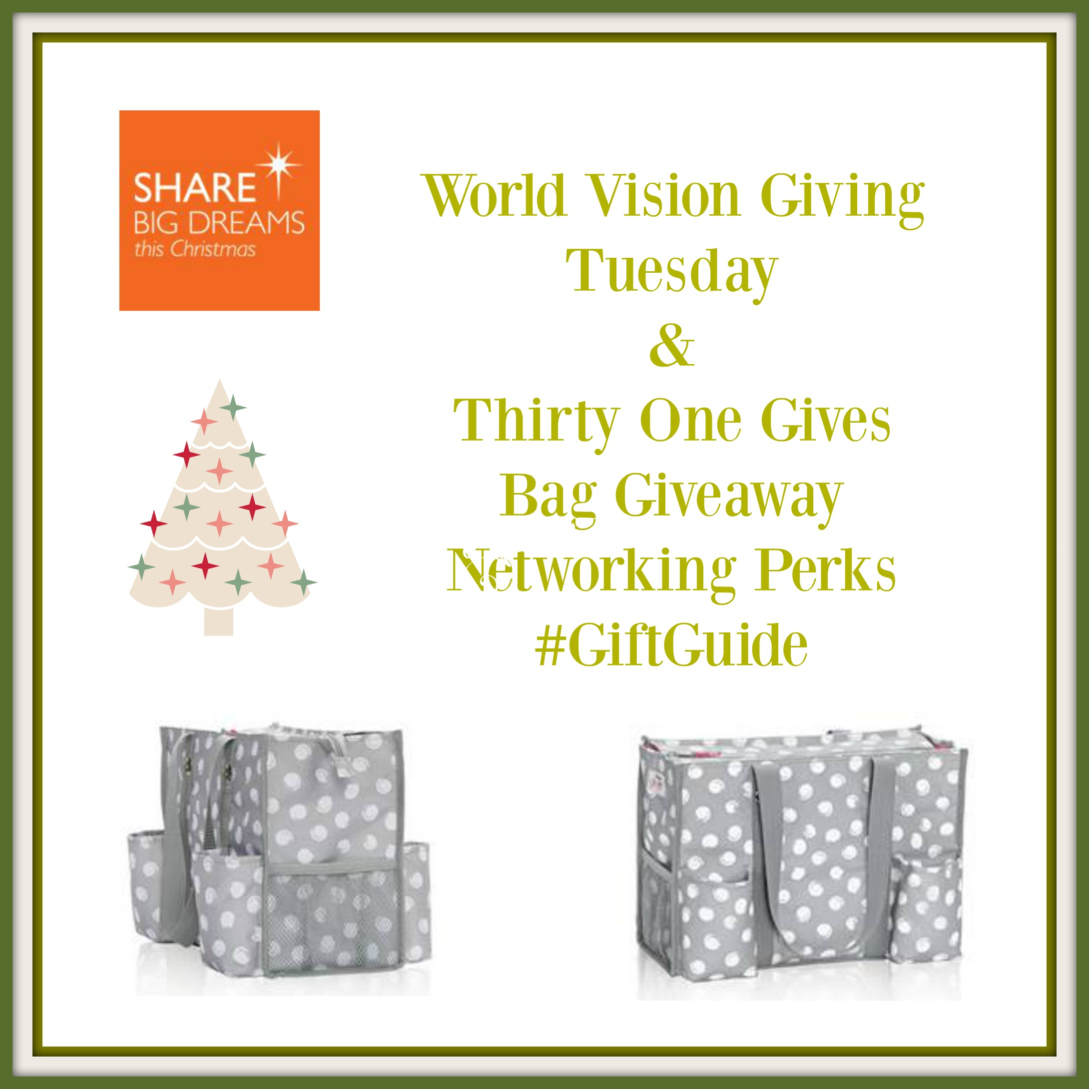 12/10/15 World Vision & Thirty-One Giving Tuesday Giveaway ...