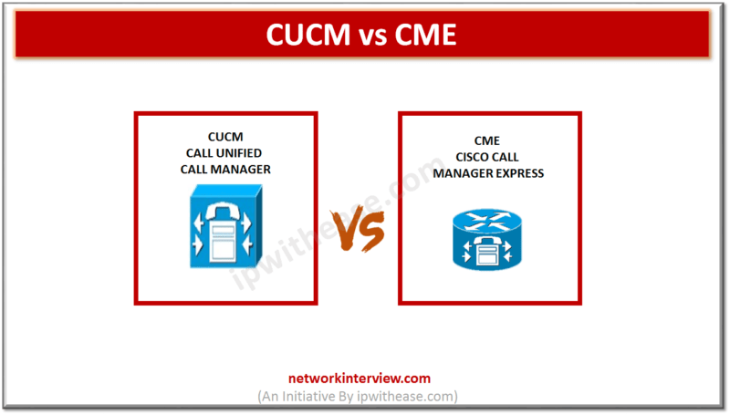 CUCM vs CME | Network Interview