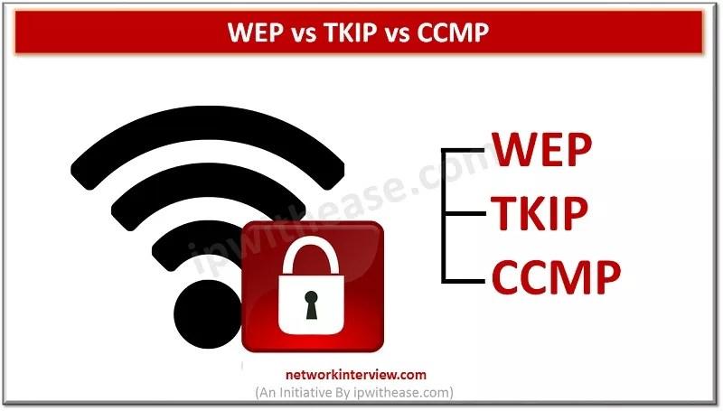 WEP vs TKIP vs CCMP