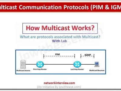 Multicast Communication Protocols (PIM & IGMP)