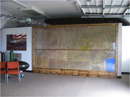 Freeman Army Air Field Museum, Base Operations Wall Map ...