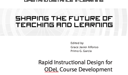 Rapid Instructional Design for ODeL Course Development Patricia B. Arinto
