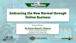 Embracing the New Normal through Online Business | Mr. Ramon Manuel T. Nisperos