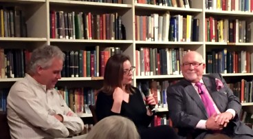 Timothy Philbrick, Nicole Chesney, & Dr. Joeph Chazan at the Providence Athenæum for the 2016 Salon: Collecting for Life -