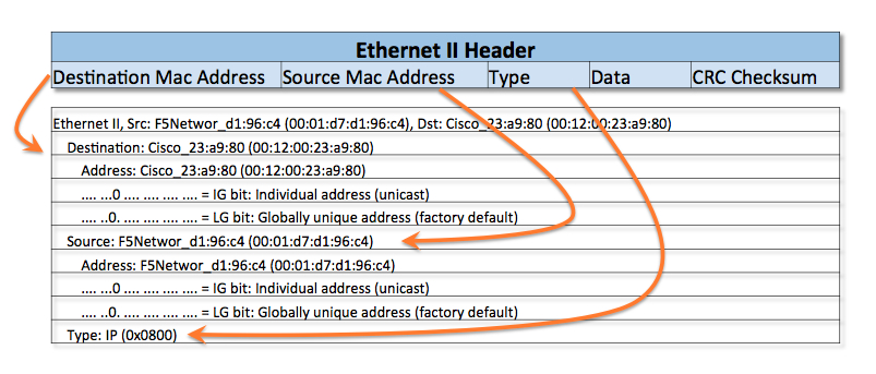 What Are Ethernet IP And TCP Headers In Wireshark Captures
