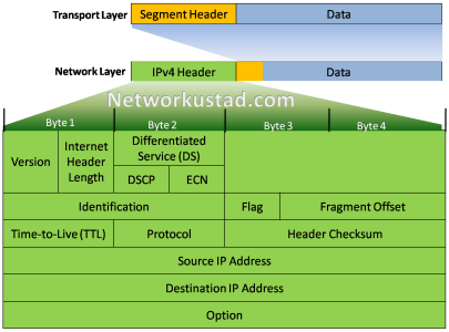 IPv4 packet header