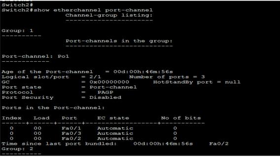 EtherChannel Configuration 2