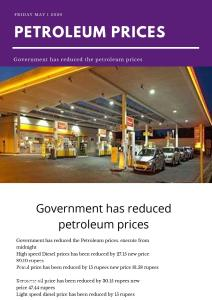 Government has reduced the petroleum prices 4