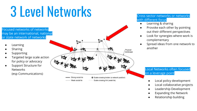 3 level network graph