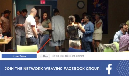 Join the Network Weaving Facebook Group   https://www.facebook.com/groups/339757846085496/