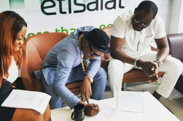 Olamide Adedeji signed contract with Telecommunications Company Etisalat to be their brand ambassadors