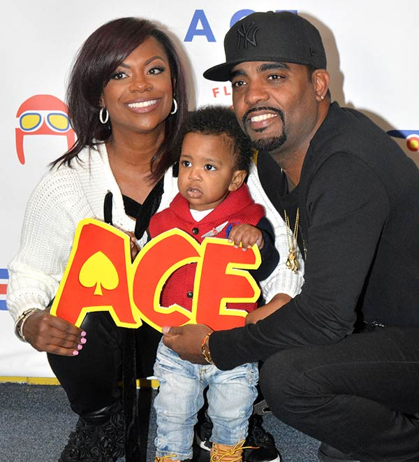 Kandi Burruss With Her Husband Todd Tucker and Kid
