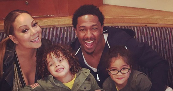 Nick Cannon with Mariah Carey and Two kids