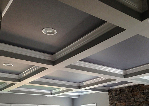 think coffered ceilings for out of the