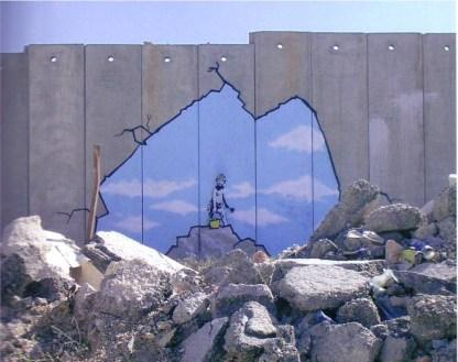 An den Israelische Sperranlagen nach Palästina