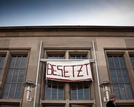 Besetztes Audimax an der Uni Mainz