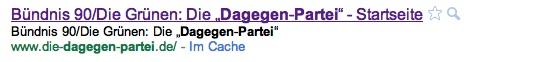 Die Dagegen-Partei bei Google