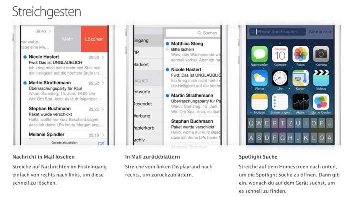 Erste Schritte mit dem iPhone 5s