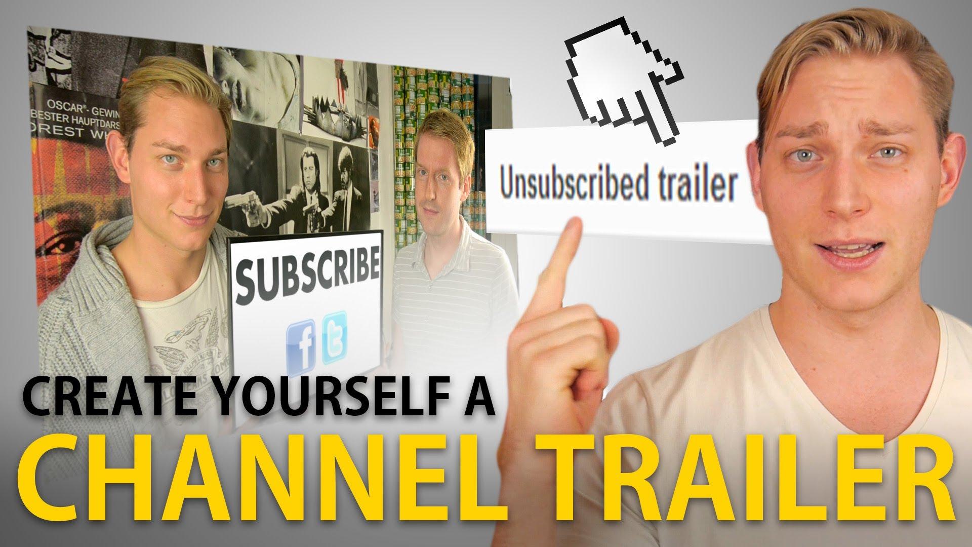 YouTube Channel Trailer erstellen