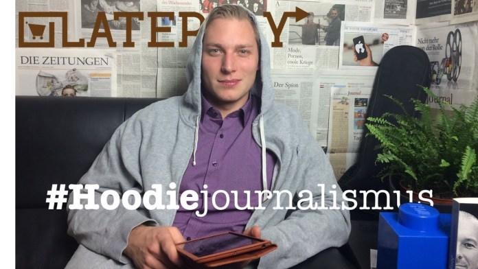 Bitte bezahl für den Hoodiejournalismus