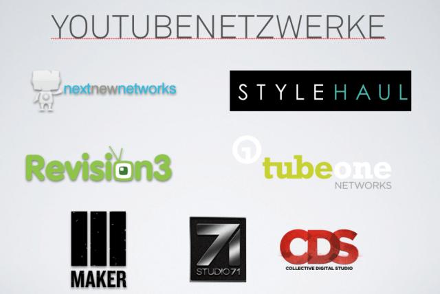 Überblick YouTube Netzwerke
