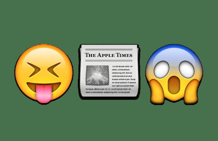 Die Emoji Nachrichten Schlagzeilen In Smilies