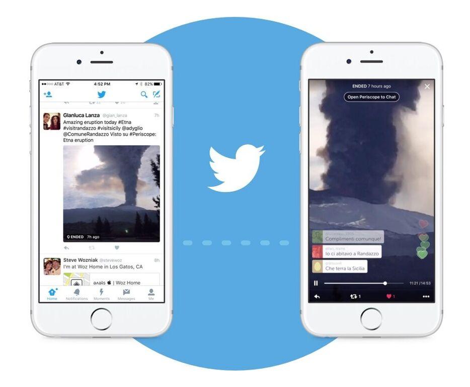 Twitter integriert Periscope Livestreams