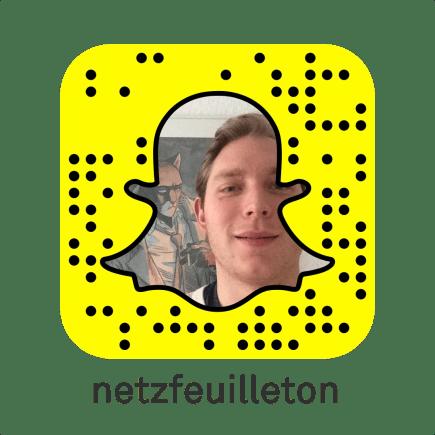 Snapchat Nutzer Name: netzfeuilleton