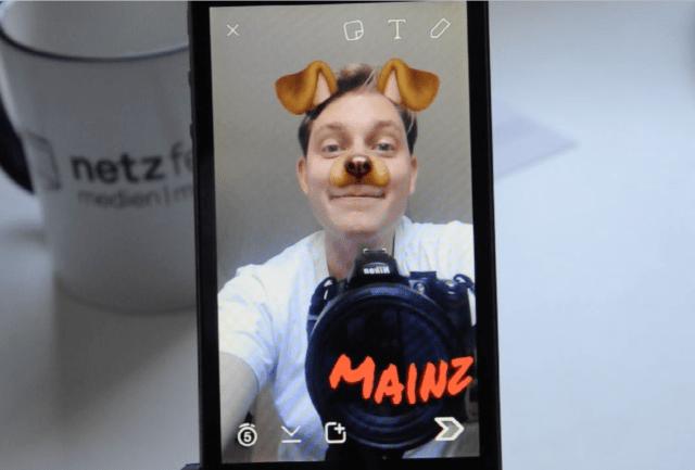 Snapchat Anleitung: Ortsfilter und Selfielinsen