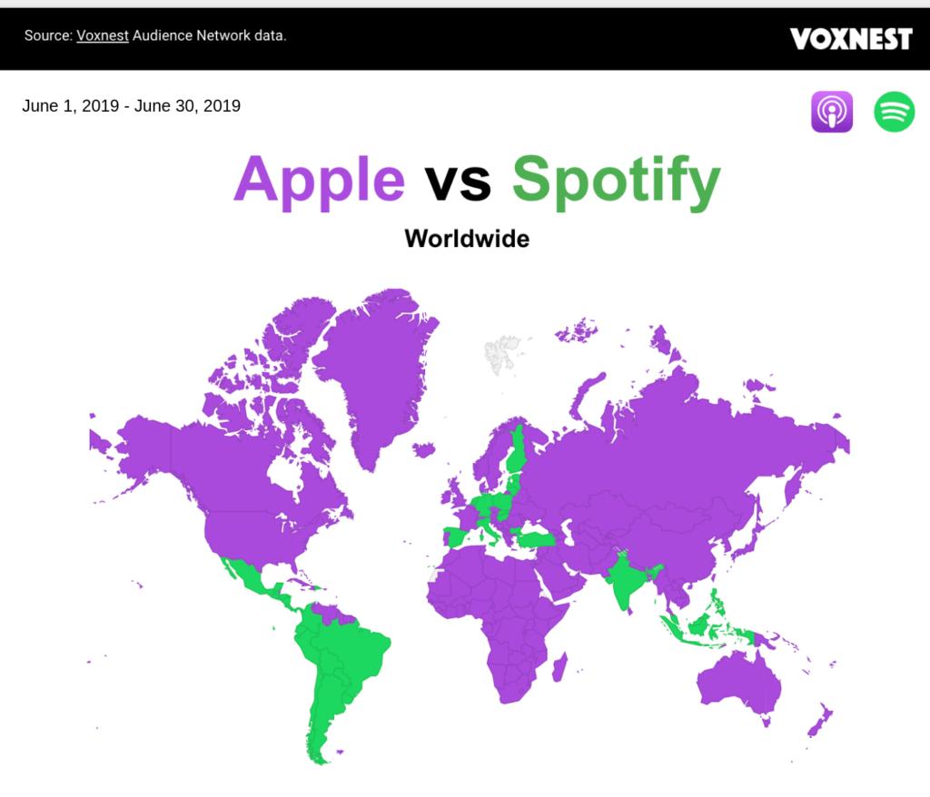 Podcast Hörer: Apple vs. Spotify