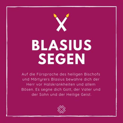 Blasiussegen Montag - Ein Segen.