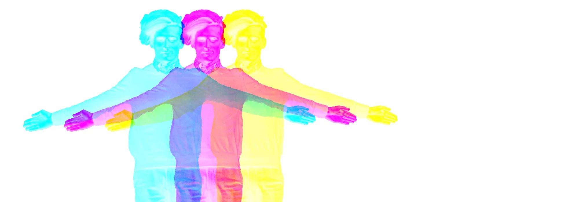 Jesus in 3 Farben