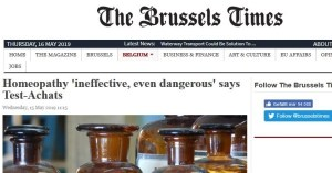 "Belgium: Consumer protectors take position – ""Homeopathy is ineffective, even dangerous""."