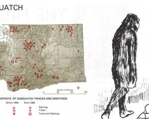 Auszug aus dem Atlas mit Bigfoot-Nachweisen