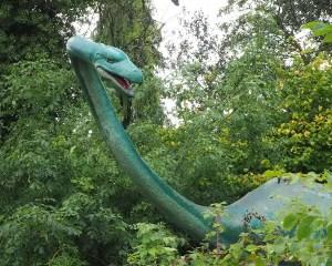 langer Hals eines Plesiosauriers