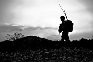 Sohouette eines Soldaten