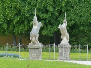 Einhörner im Park
