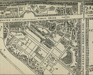 Plan des Londoner Zoos von 1862