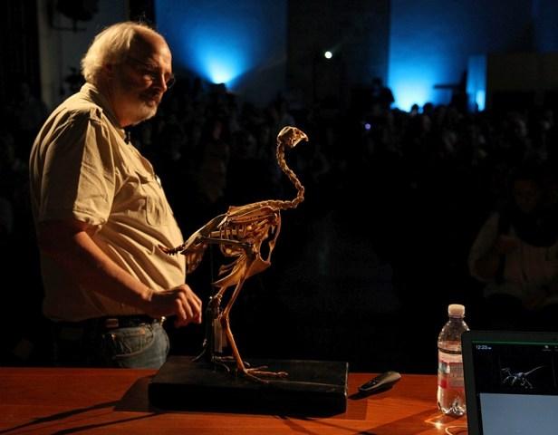 Jack Horner mit Vogelskelett