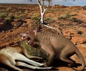 CGI-Darstellung eines Beutellöwen