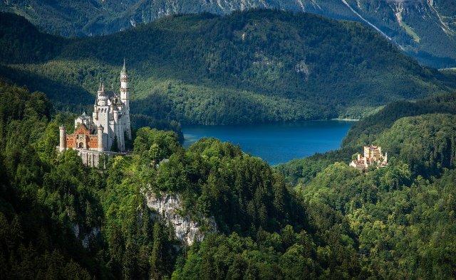 Schloß Neuschwanstein, Hohnschwangau und der Alpsee