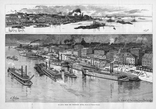 Postkarte aus St. Louis