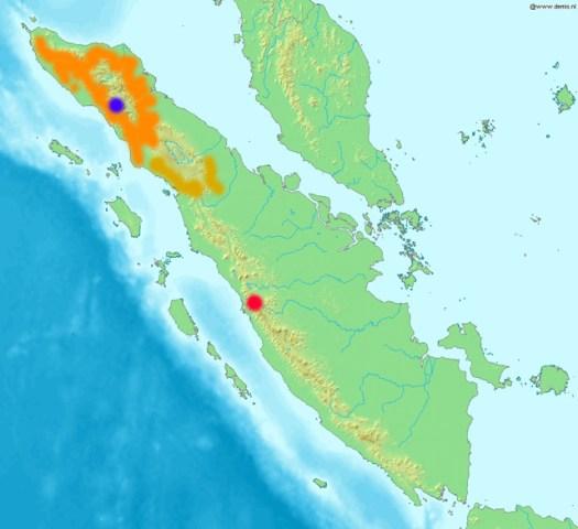 Sumatra und Verbreitung