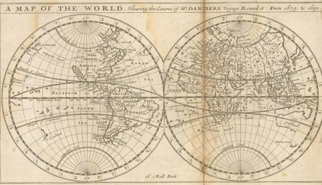 Dampier's Reise von 1679 bis 1691