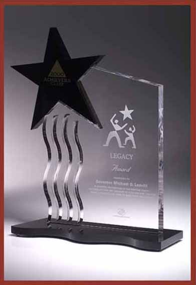 award acrylic star